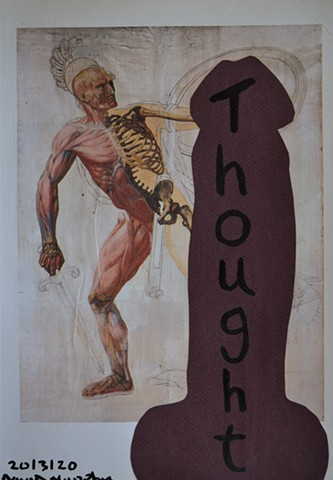 Thought, collage, drawing, artwork, david murphy