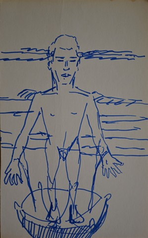Epic Suicide, david murphy, drawing, sketch, outsider,