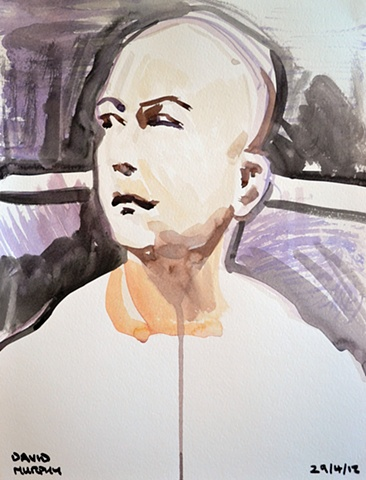 BJ Penn No. 2, 2012, watercolour, UFC, MMA,