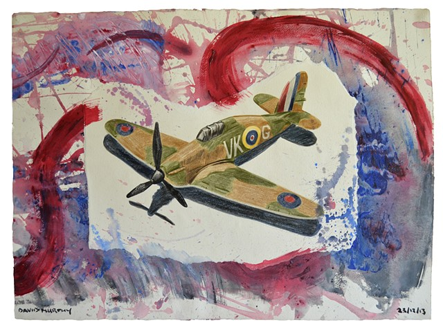 Air War, 2013, painting, collage, drawing, david murphy