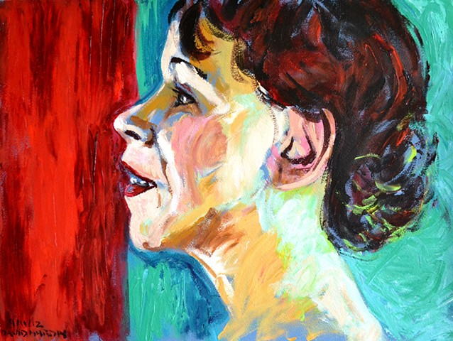 Smiling Woman in Profile, Neo-Expressionism, New Image, Expressionism
