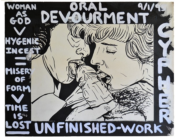 Oral Devourment, porn, sex, erotica, art brut, outsider art, neo-expressionism, expressionism,