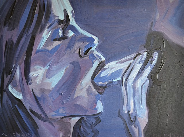 Dark Blow-Job, oil painting, david murphy, irish ireland, painting