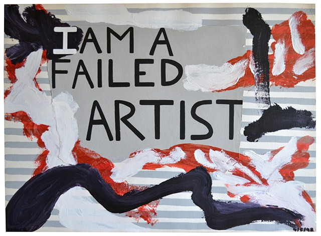 I Am A Failed Artist, David Murphy, Irish, Ireland, Dublin, Neo-Expressionism