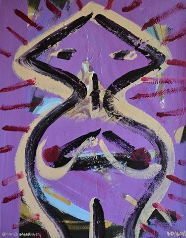 Mad Idol No. 3, abstract, acrylic, David Murphy