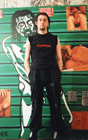 Cypher, the panic artist, David Murphy, painter, Irish, Ireland, ROI, Dublin, Eire,
