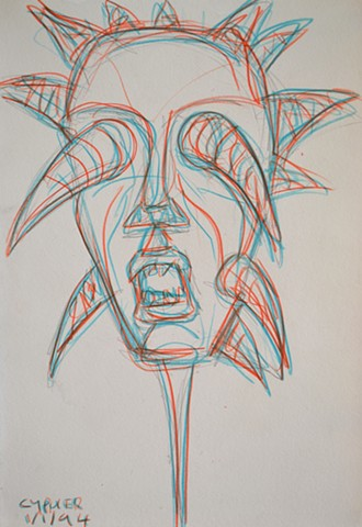 Blinded, david murphy, cypher, drawing, sketch