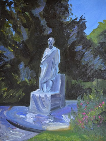 Statue in  The National Botanic Gardens, painting, david murphy, irish, ireland