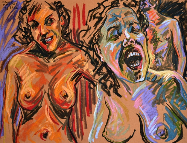 Erotic Frenzy No. 19, david murphy, Irish painter, Irish artist, Dublin, Ireland