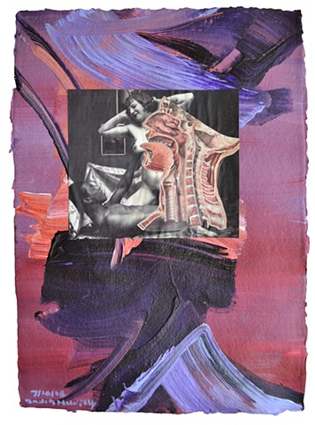 Between Heaven and Hell No. 8, collage, painting, porn, erotica, neo-expressionism, david murphy