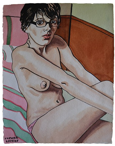 Nude Girl On Bed No. 2