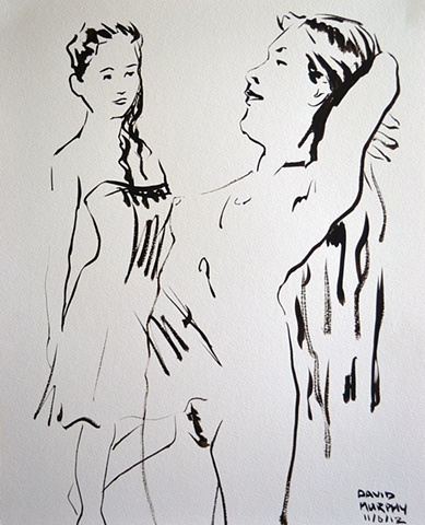 Figure Studies No. 8, david murphy, Irish painter, Irish artist, Dublin, Ireland