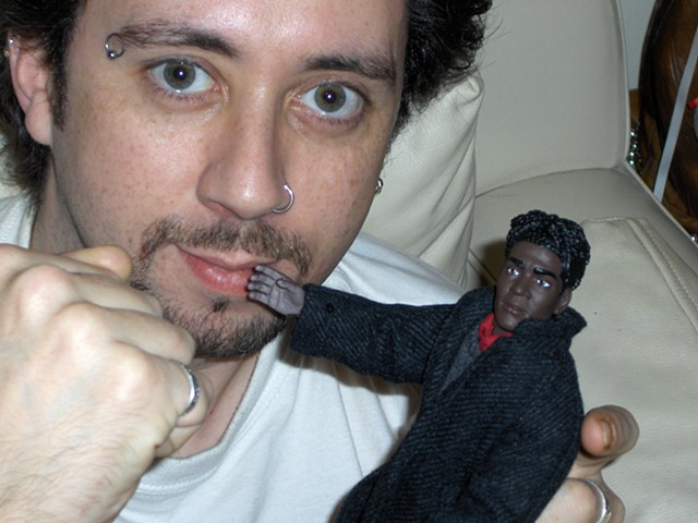 David Murphy, Cypher, The Panic Artist, photograph, basquiat, doll
