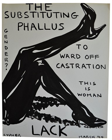 The Substituting Phallus, fetish, PVC, outsider, art brut, porn, legs, david murphy