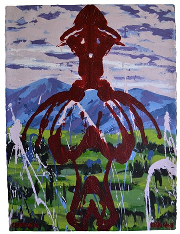 Monster in Landscape, David Brendan Murphy, affordable art,