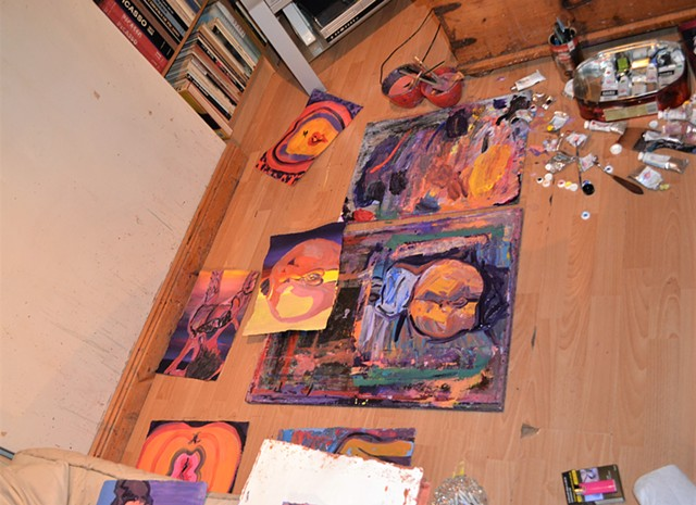 david murphy, irish, dublin, painter, artist, art in progress, ireland,