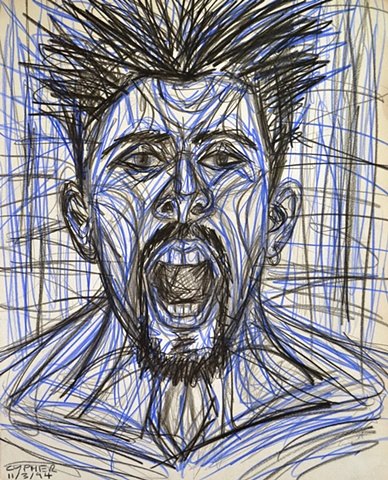 Screaming Self-Portrait