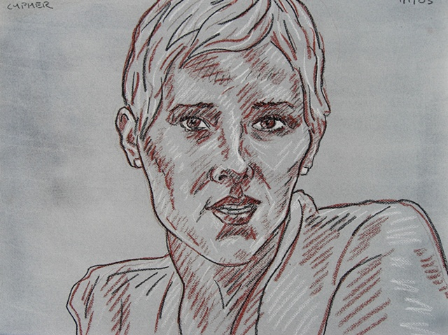Short Haired Woman, 2003, david brendan murphy, cypher, the panic artist