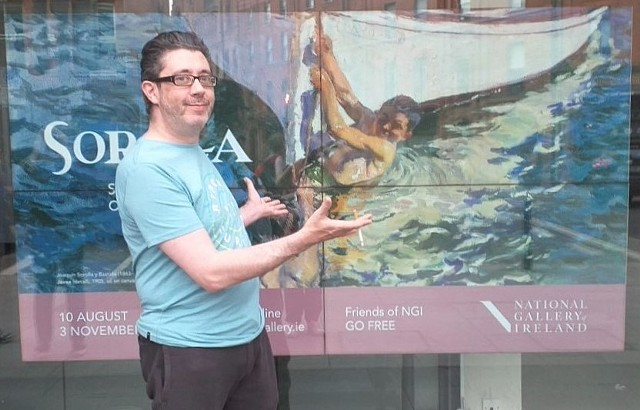 David Outside Joaquin Sorolla Exhibition in Dublin No. 3, david murphy, irish, ireland, dublin, artist, painter, writer