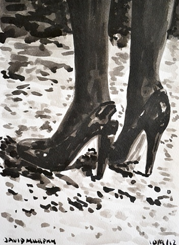 High Heels, David Murphy, Irish, Ireland, Artist, Painter, Draughtsman,