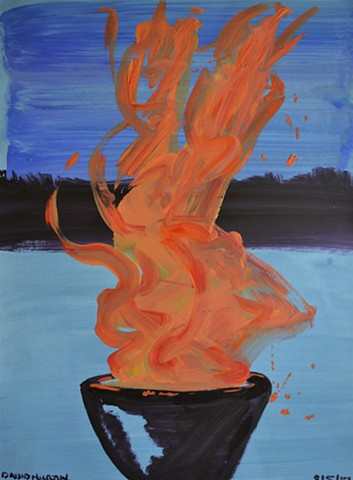 Sacred Fire, acrylic, abstract, david murphy, cypher, irish, ireland, dublin