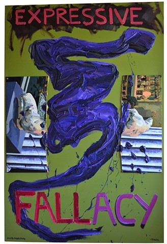 epressive fallacy, david murphy, painting, text, Neo-Expressionism, irish, ireland