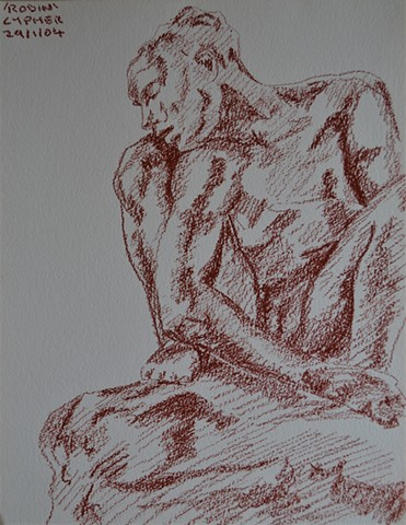 Study After Rodin, reasonable priced art, value art, David Murphy, Cypher, The Panic Artist