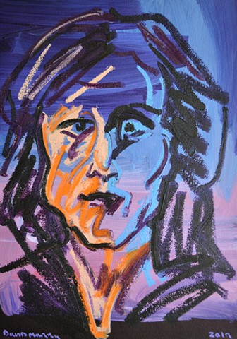 Mad Woman No. 2, artwork, painting, david murphy, irish, irealnd, dublin