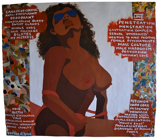 Idol, erotic, porn, collage, text, post-modern, neo-expressionist, outsider art, david murphy