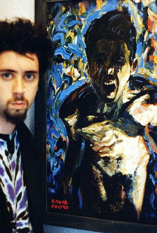 david murphy, cypher, the panic artist, painter, ireland, irish, photo, photograph,