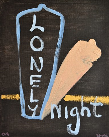 Lonely Night, abstract, acrylic, David Murphy