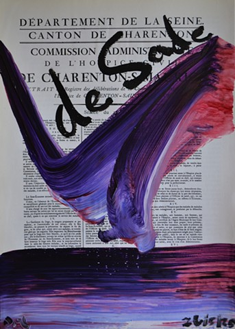 de Sade, text, painting, david murphy, dublin, ireland