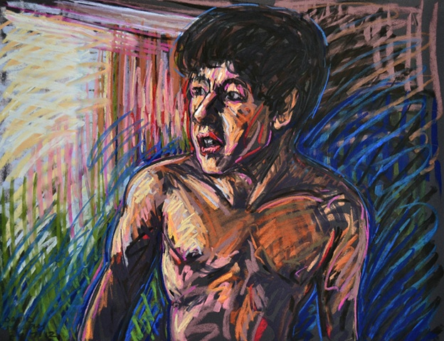Distressed Boy No. 2, david murphy, Irish painter, Irish artist, Dublin, Ireland