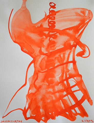 The Body, watercolour, abstract, david murphy