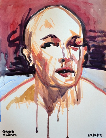 BJ Penn No. 3, 2012, watercolour, UFC, MMA,