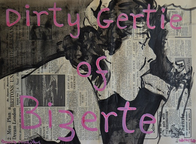 Dirty Gertie of Bizerte, newspaper, porn, vintage, david murphy,