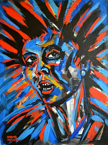 Demonic Female Head, David Murphy, Cypher, Irish, Ireland, Eire, Dublin, Neo-Expressionism