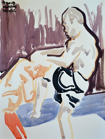 Wanderlie Silva No. 5, 2012, watercolour, UFC, MMA