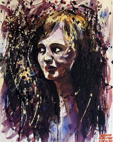 Splash Female Portrait, 1990, david brendan murphy, cypher, the panic artist