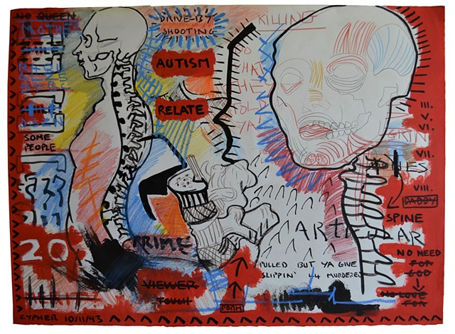 Autism, drawing, david murphy, 1993, cypher, the panic artist,