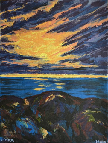 Sunset Over Sea No. 2