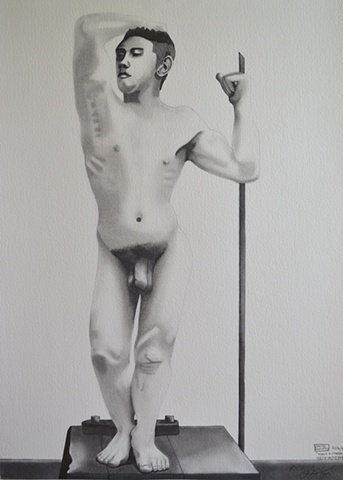Male Nude, David Murphy, Irish artist, Irish painter, Irish draughtsman, Ireland,