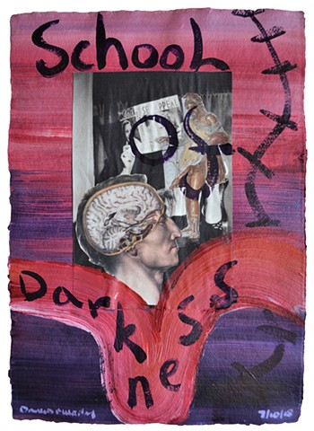 School of Darkness, collage, painting, porn, erotica, neo-expressionism, david murphy