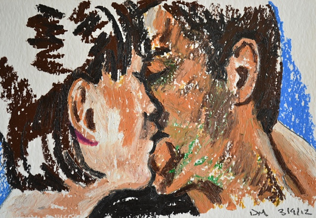 The Kiss, David Murphy, Irish, Ireland, Artist, Painter, Draughtsman,