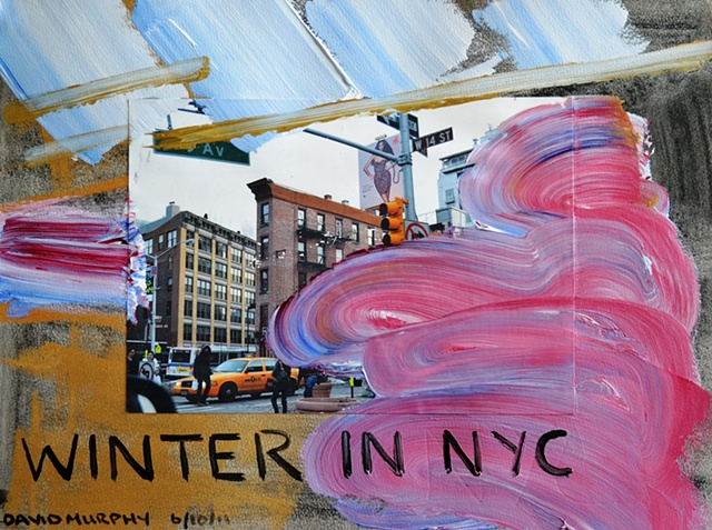 Winter in NYC, David Brendan Murphy, Cypher, The Panic Artist, Irish, Artist, Painter,