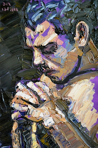 Praying Man, david brendan murphy, cypher, the panic artist, abstarct, expressionist, neo-expressionist
