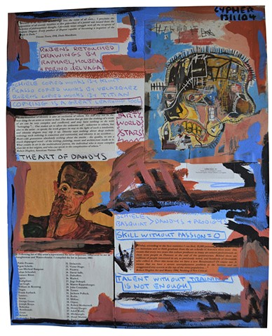 The Art of Dandys, collage, art history, text, notes, david murphy, irish, ireland