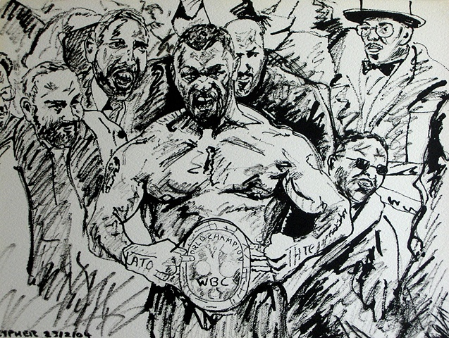 Tyson World Champion Again, 2004, david brendan murphy, cypher, the panic artist
