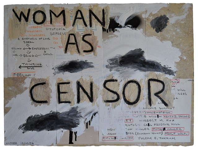 Woman as Censor, Outsider Art, Neo-Expressionism, David Murphy, Cypher