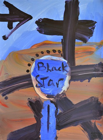 Black Star, acrylic, abstract, david murphy, cypher, irish, ireland, dublin